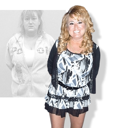 Before & after weight loss results for PFC camper Dani