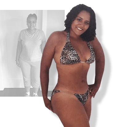 Before & after weight loss results for PFC camper Lorrain
