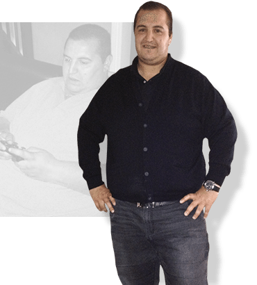 Before & after weight loss results for PFC camper Salim
