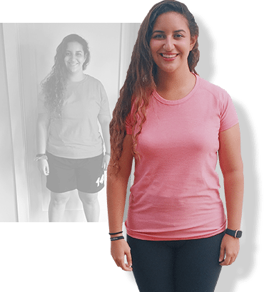 Before & after weight loss results for PFC camper Yasmin